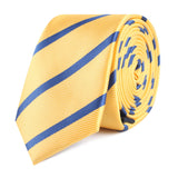 Yellow Pencil Stripe Slim Tie