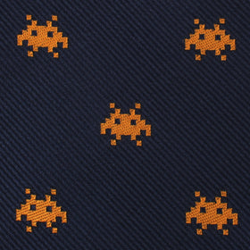 Yellow Pixel Invader Bow Tie