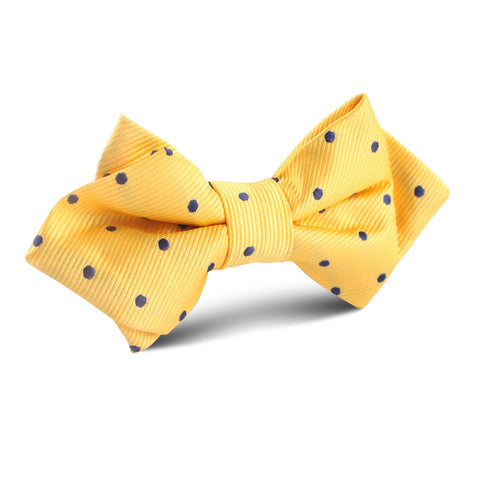 Yellow Polka Dot Diamond Bow Tie