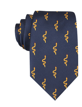 Yellow Snake Necktie