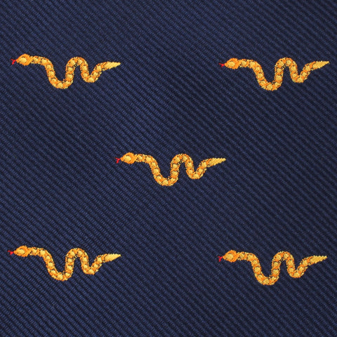 Yellow Snake Pocket Square