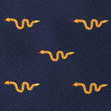 Yellow Snake Skinny Tie Fabric