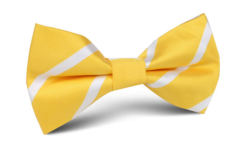 Yellow Striped Bow Tie