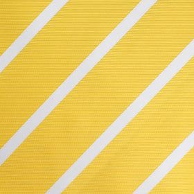 Yellow Striped Kids Bow Tie