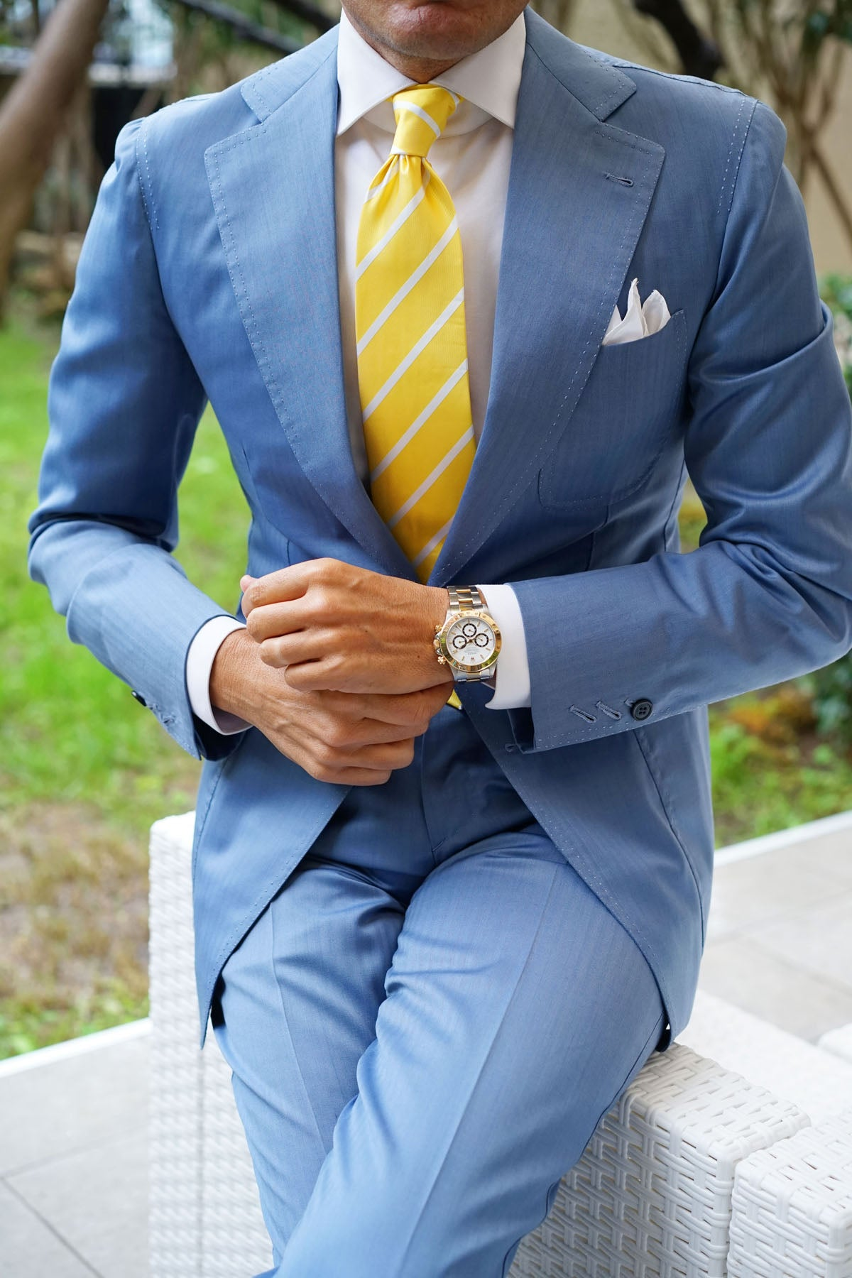 Yellow Striped Necktie