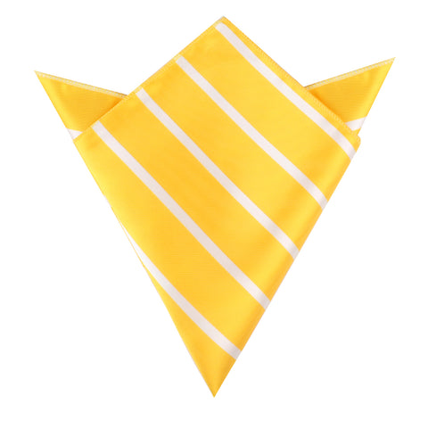 Yellow Striped Pocket Square