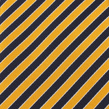 Yellow and Navy Blue Diagonal Tie  Fabric