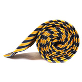 Yellow and Navy Blue Diagonal Tie Side View