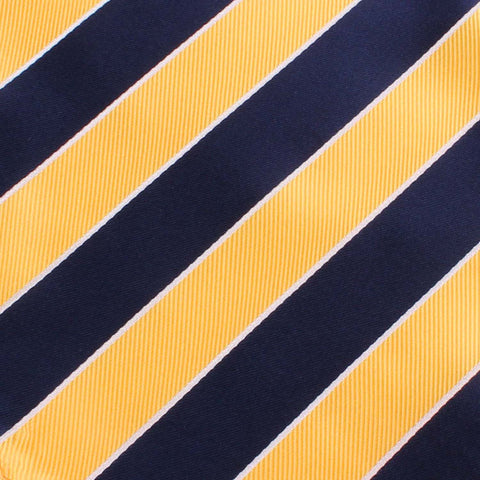 Yellow and Navy Blue Striped Bow Tie
