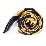 Yellow and Navy Blue Striped Tie