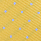 Yellow on Blue Pin Dots Fabric Self Bowtie