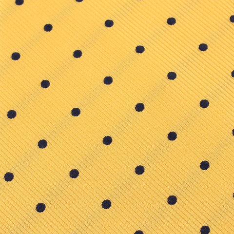 Yellow with Polka Dots Kids Bow Tie