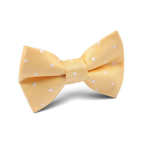 Yellow with White Polka Dots Kids Bow Tie