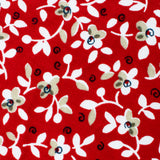 Yukata Red Floral Self Bow Tie Fabric