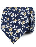 Yukata Navy Blue Floral Neckties