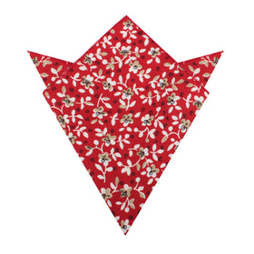 Yukata Red Floral Pocket Square