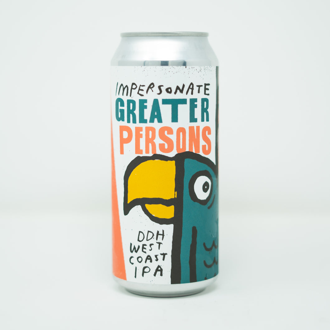 Impersonate Greater Persons 4pk $18 // DDH West Coast IPA collab w/ North Park Beer Co 7.2%abv