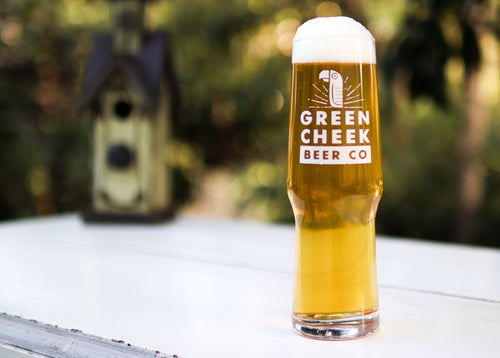 Green Cheek Logo Glass