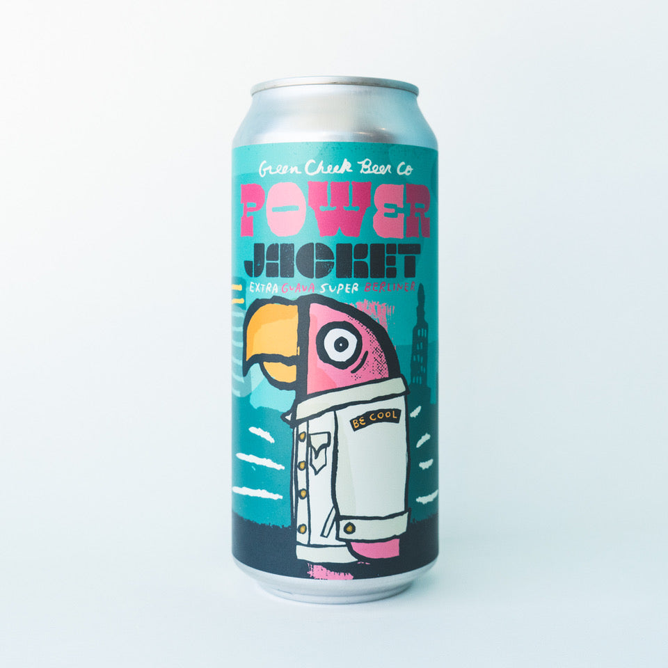 Power Jacket 4pk $22 // Extra Guava Super Berliner 9.0%abv