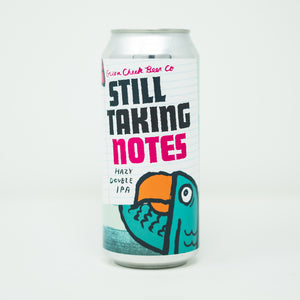 Still Taking Notes 4pk $20 // Hazy Double IPA 8.5% abv