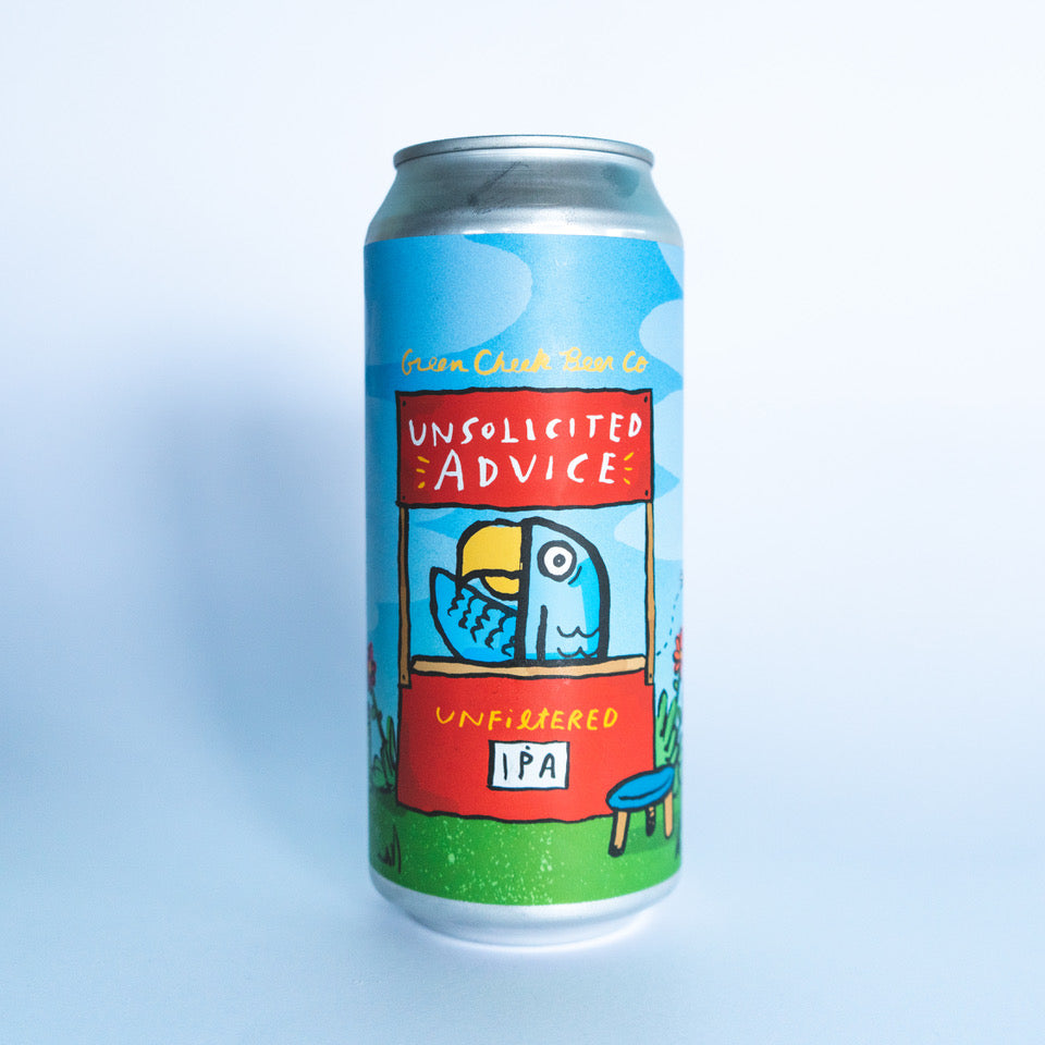 Unsolicited Advice 4pk $16 // Unfiltered IPA 6.6%abv