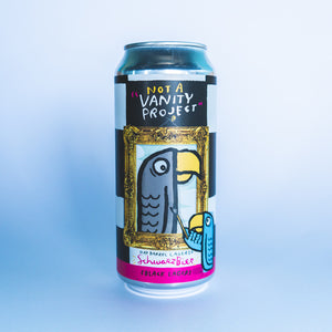 "Not A ""Vanity Project"" 4pk $15 // Oak Barrel Lagered Schwarzbier collab w/ Resident Culture 6%abv"