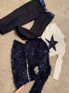 Navy Star 3 Piece Girls Set