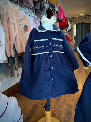 PRE ORDER - Navy Traditional Smocked Coat