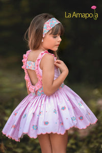 La Amapola Jeanny Puffball Summer Dress