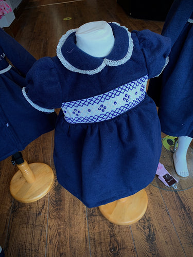PRE ORDER - Navy Traditional Smocked Dress