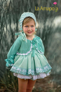 La Amapola Mint Summer Cardigan