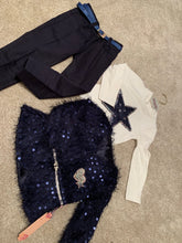 Load image into Gallery viewer, Navy Star 3 Piece Girls Set