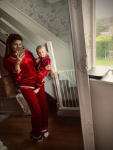 Load image into Gallery viewer, PRE ORDER - Traditional Red Velvet Pjs Womens FREE PERSONALISED EMBROIDERY