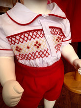 Load image into Gallery viewer, Pre Order Boys Traditional Smocked Suit Red
