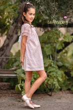 Load image into Gallery viewer, La Amapola Pink and White Aline Summer Dress