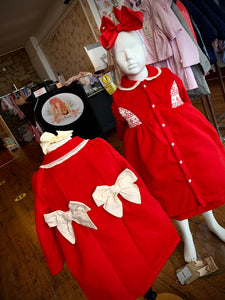 PRE ORDER - Red Traditional Smocked Coat