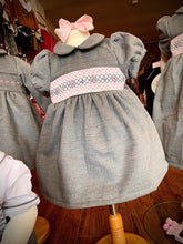 Load image into Gallery viewer, PRE ORDER - Grey Traditional Smocked Dress