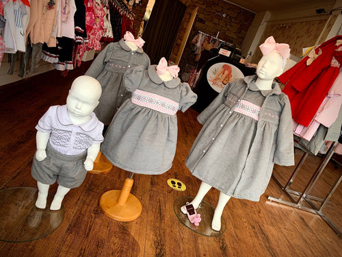 PRE ORDER - Grey Traditional Smocked Coat