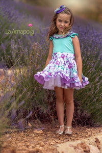 La Amapola Graceful Puffball Summer Dress