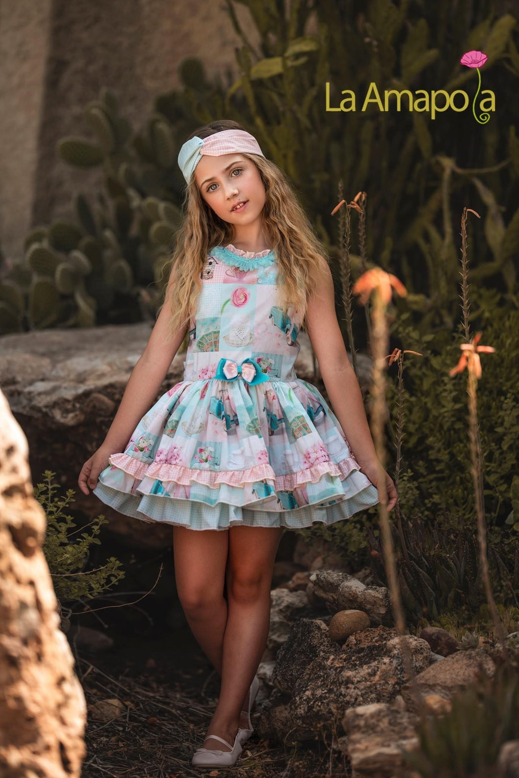 La Amapola Sweet Drop Waist Summer Dress