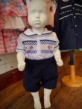 Load image into Gallery viewer, Pre Order Boys Traditional Smocked Suit Navy