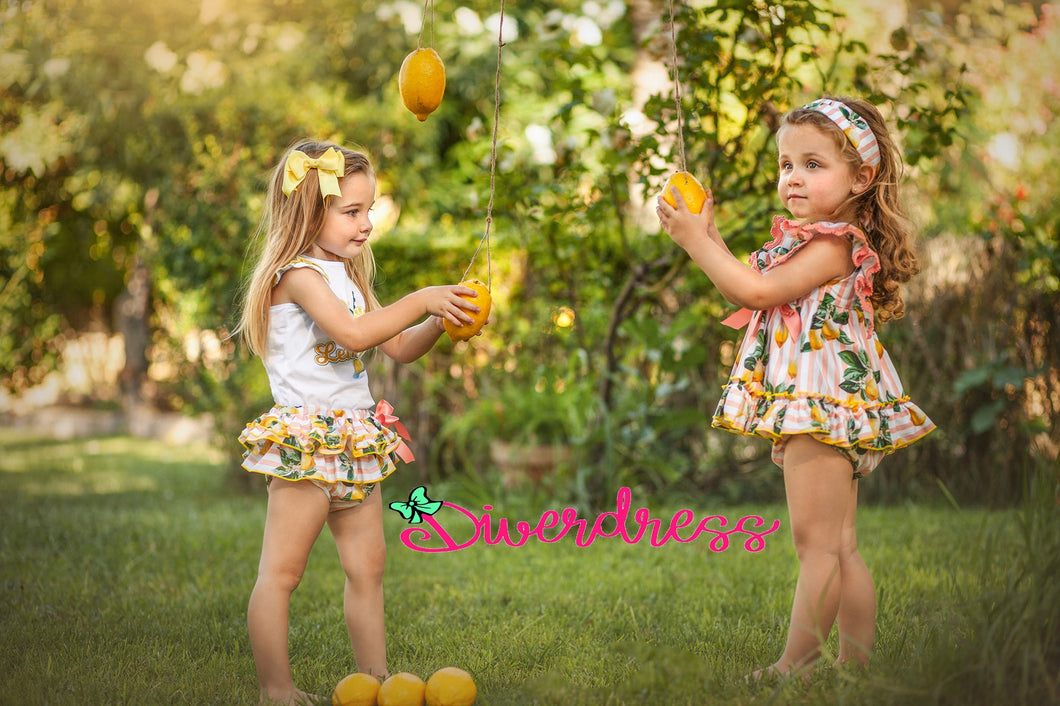 DiverDress Limoncello Baby Dress and Knickers