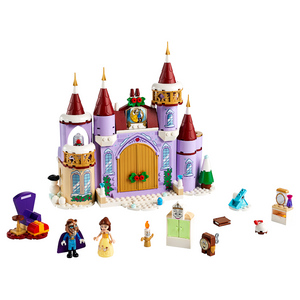 New Set 43180 Disney Belle's Castle Winter Celebration