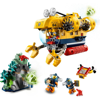 New Set 60264 City Ocean Exploration Submarine