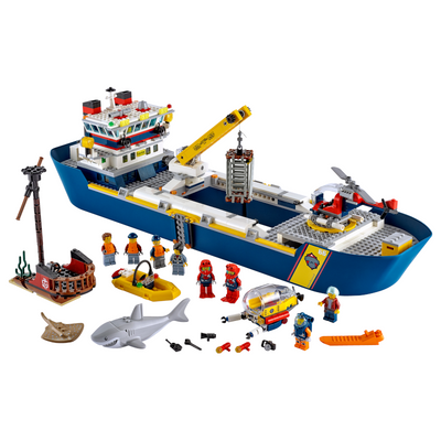 New Set 60266 City Ocean Exploration Ship