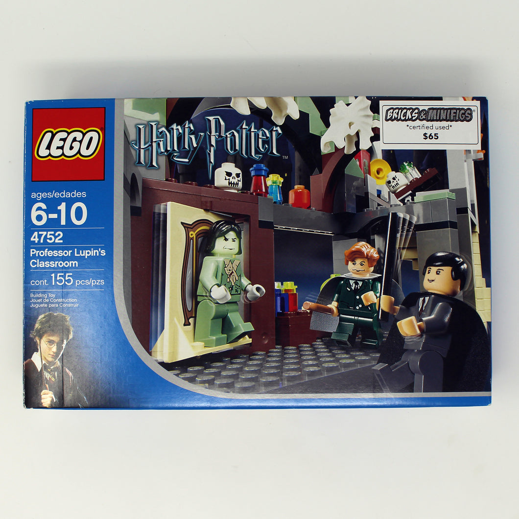 Certified Used Set 4752 Harry Potter Professor Lupin's Classroom