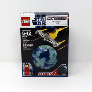 Certified Used Set 9674 Star Wars Naboo Starfighter & Naboo