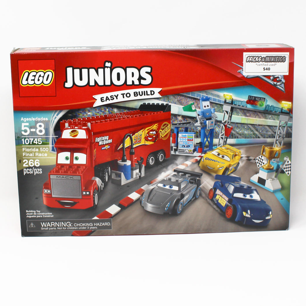 Certified Used Set 10745 Juniors Cars Florida 500 Final Race