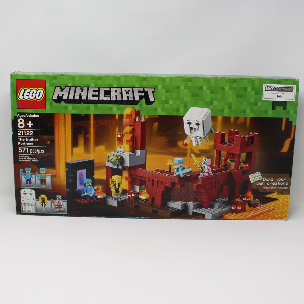 Certified Used Set 21122 Minecraft The Nether Fortress