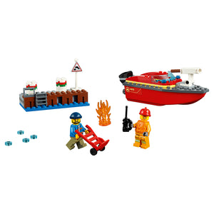 New Set 60213 City Dock Side Fire